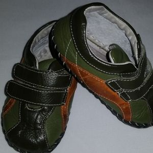 Pediped Shoes Infant 12-18M Green Brown Boys Soft